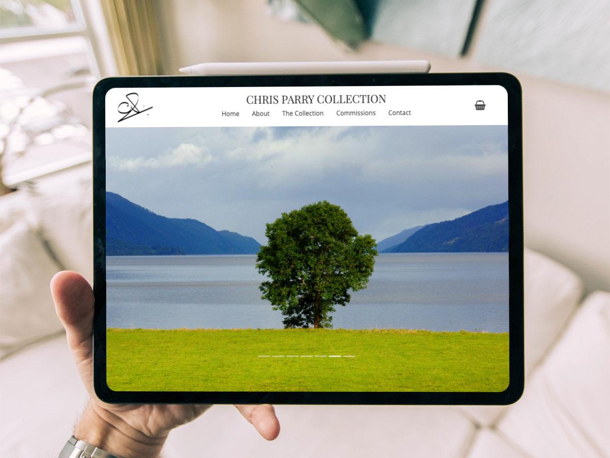 Chris Parry Collection website screenshot