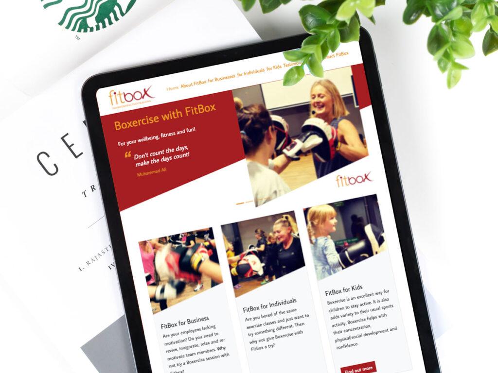 Fitbox website screenshot