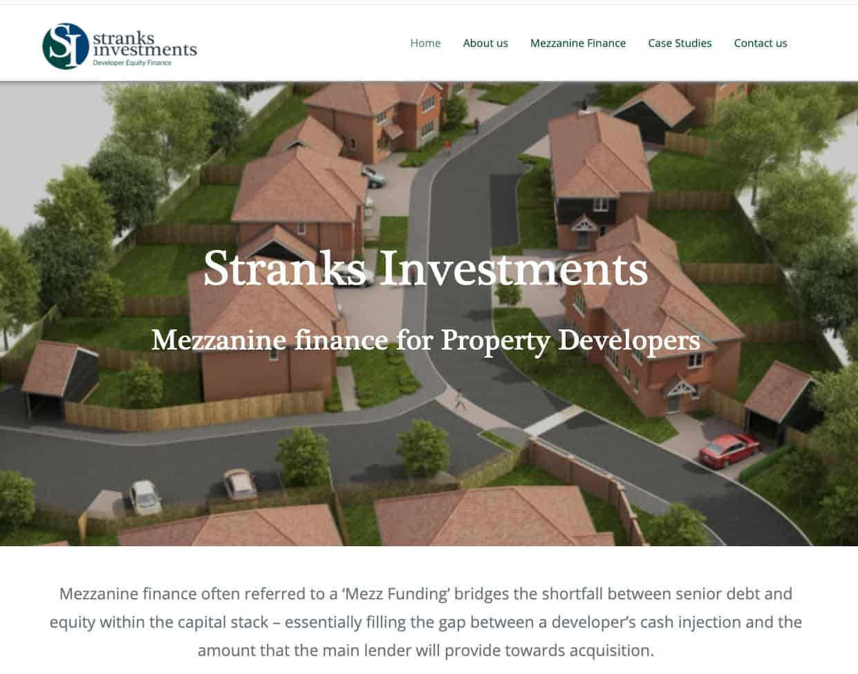 Stranks Investments homepage