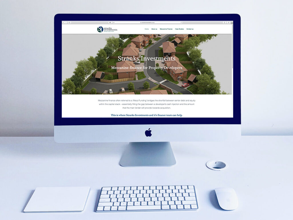 Stranks Investments website screenshot